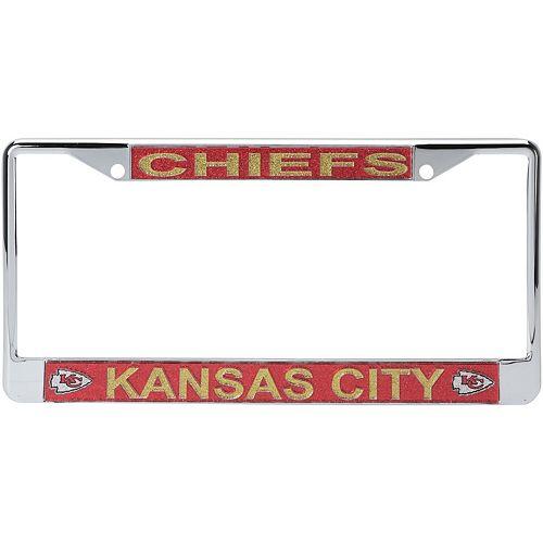 Kansas City Chiefs Acrylic Glitter Team Logo License Plate Frame