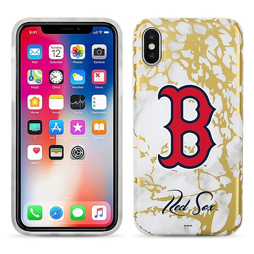 Boston Red Sox Marble iPhone X Case