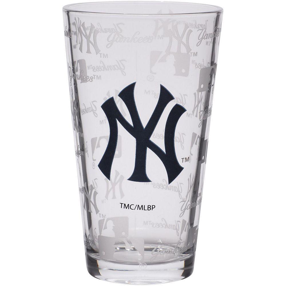 New York Yankees 16oz. Sandblasted Mixing Glass
