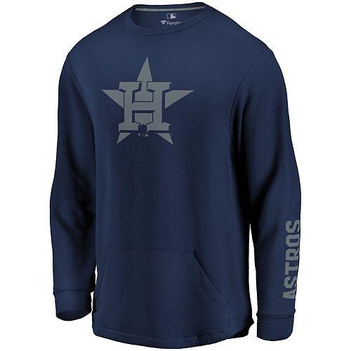 Men's Fanatics Branded Navy Houston Astros World At Large Pullover Crew Sweatshirt