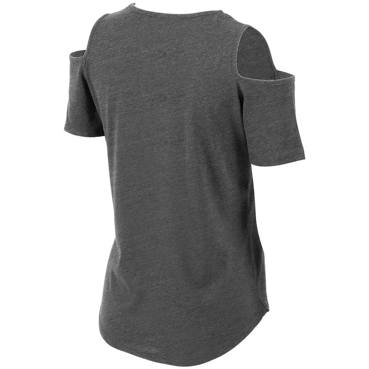 Women's Charcoal Indiana Hoosiers Sueded Jersey Cold Shoulder T-Shirt Z9vgQ