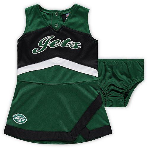 Girls Infant Green New York Jets Cheer Captain Jumper Dress