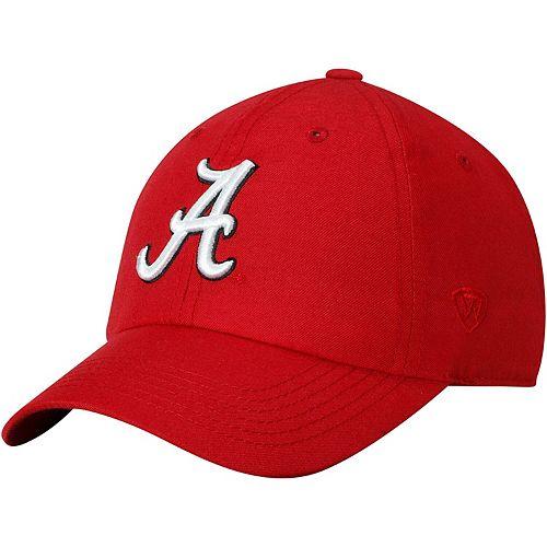 Men's Top of the World Crimson Alabama Crimson Tide Primary Logo Staple Adjustable Hat