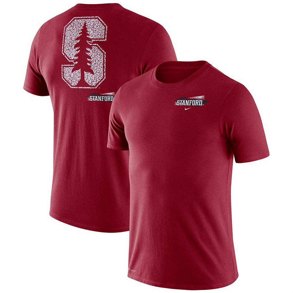 Men's Nike Cardinal Stanford Cardinal Performance Cotton Fan GFX T-Shirt