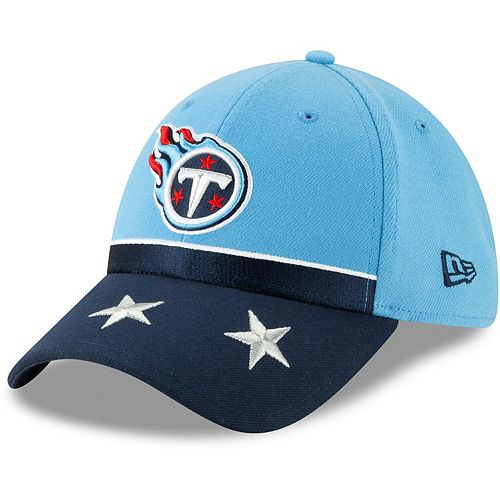Tennessee Titans New Era 2019 NFL Draft On-Stage Official 39THIRTY Flex Hat - Light Blue