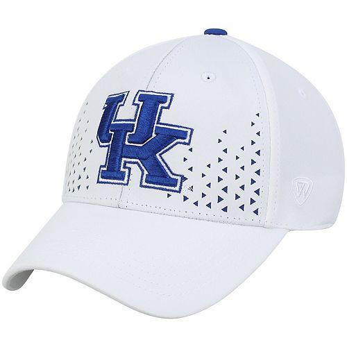 Men's Top of the World White Kentucky Wildcats Spectra Flex Hat