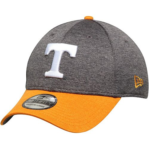 Men's New Era Charcoal/Tennessee Orange Tennessee Volunteers Two-Tone Shaded 39THIRTY Flex Hat