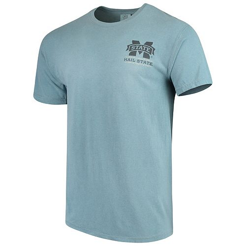 Men's Blue Mississippi State Bulldogs State Scenery Comfort Colors T-Shirt