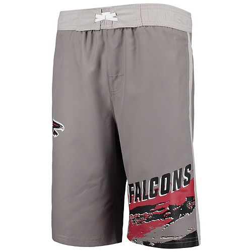 Youth Charcoal Atlanta Falcons Heat Wave Swim Trunks