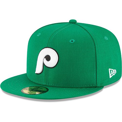 Men's New Era Kelly Green Philadelphia Phillies Crossover 59FIFTY Fitted Hat