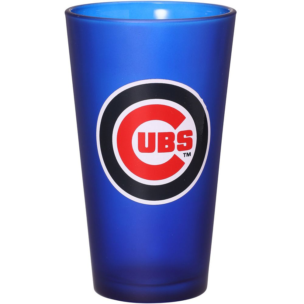 Chicago Cubs 16 oz. Team Color Frosted Pint Glass