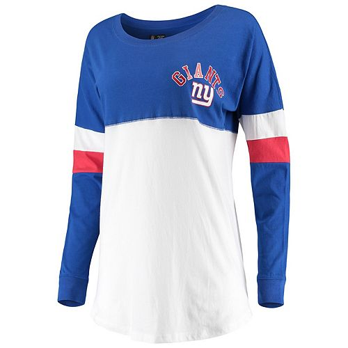 Women's New Era Royal New York Giants Varsity Athletic Long Sleeve T-Shirt