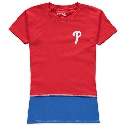 Girls Preschool Refried Tees Red Philadelphia Phillies T-Shirt Dress