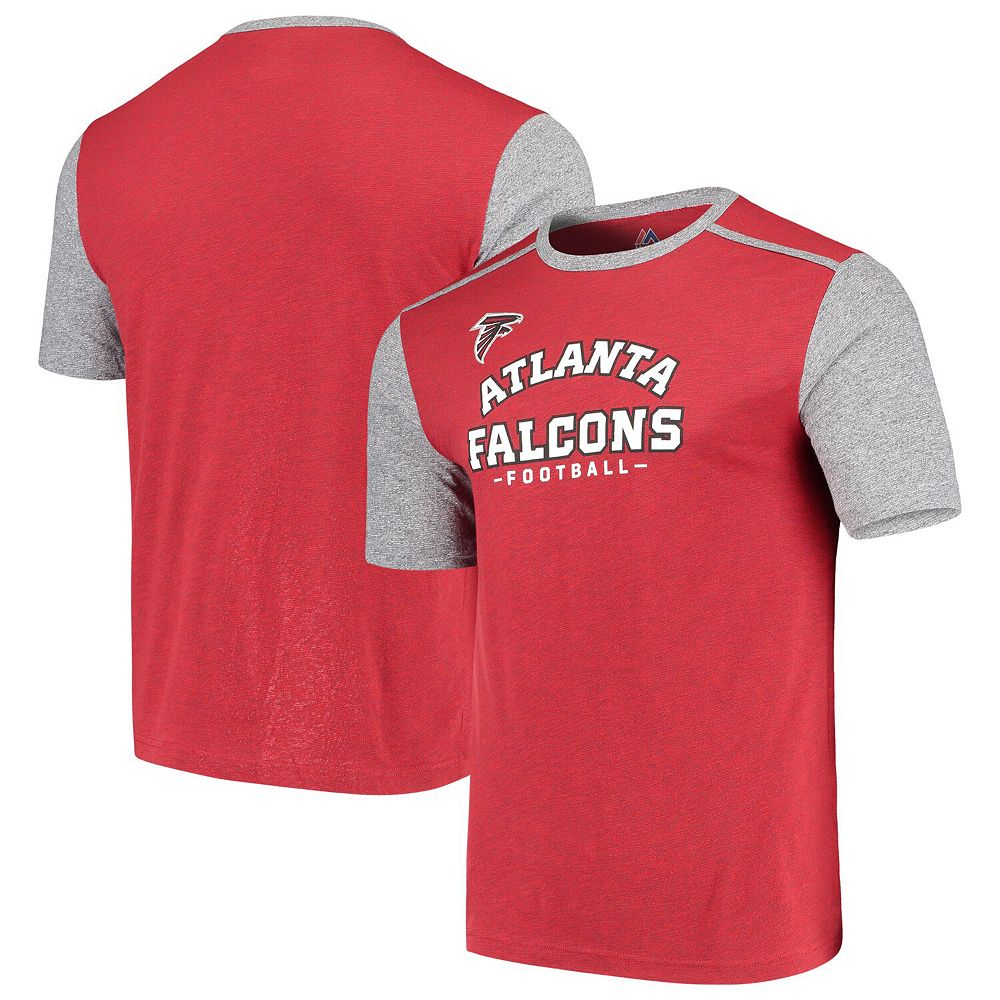 Men's Majestic Red/Gray Atlanta Falcons Aim for the Sky T-Shirt