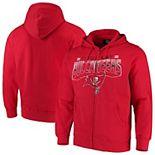 Men's G-III Sports by Carl Banks Red Tampa Bay Buccaneers Perfect Season Full-Zip Hoodie