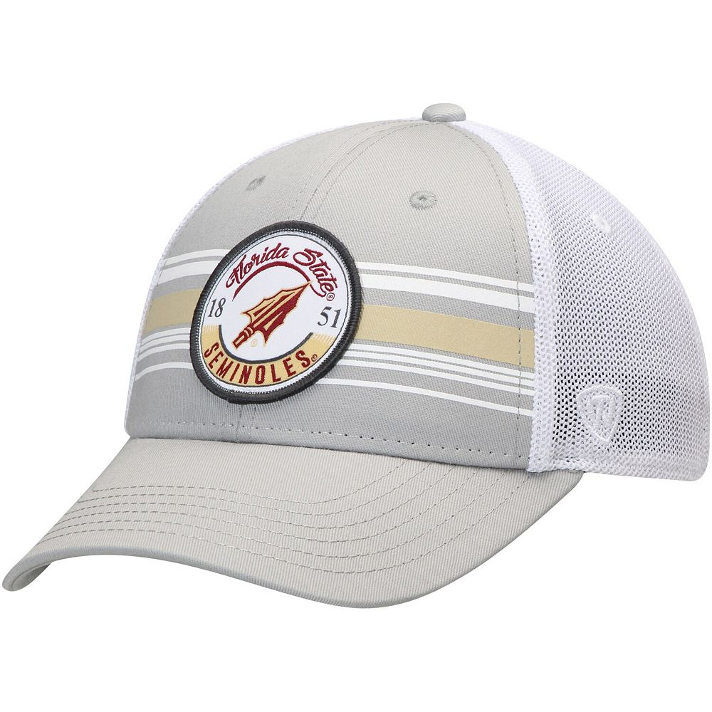 Men's Top of the World Gray Florida State Seminoles Castlands Meshback Flex Hat