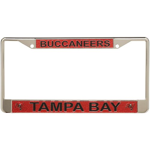 Tampa Bay Buccaneers Acrylic Glitter Team Logo License Plate Frame