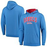 Men's Colosseum Blue Ole Miss Rebels Arch & Logo Pullover Hoodie