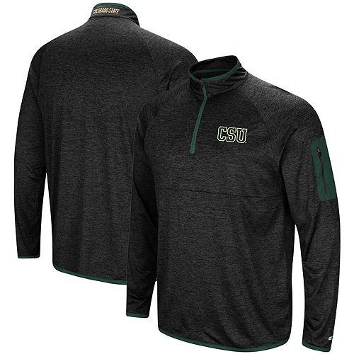 Men's Colosseum Black Colorado State Rams Amnesia Quarter-Zip Pullover Jacket