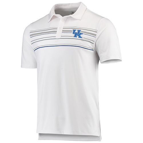 Men's Top of the World White Kentucky Wildcats Stripe Polo