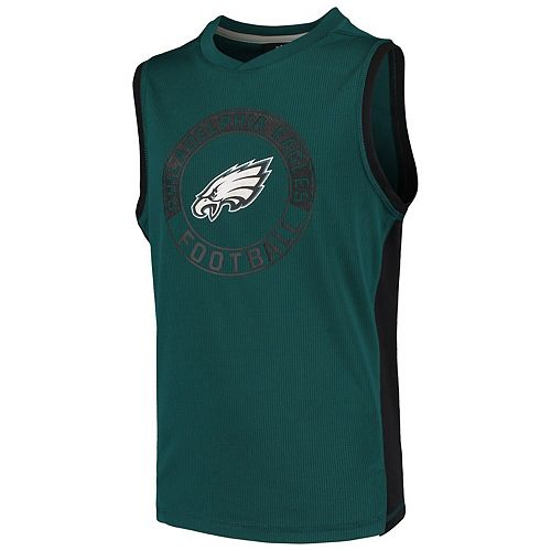 Youth Midnight Green Philadelphia Eagles Pre-Game Muscle Tank Top