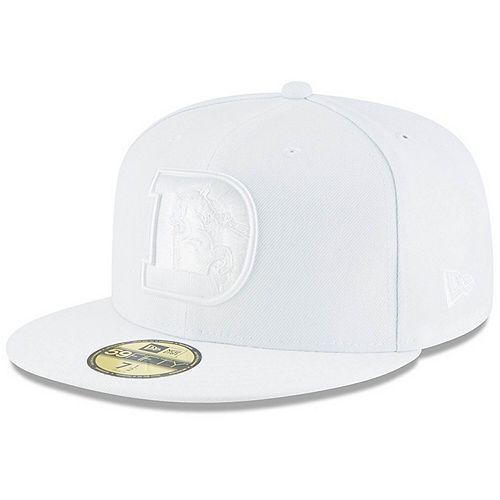 Men's New Era Denver Broncos White on White 59FIFTY Fitted Hat