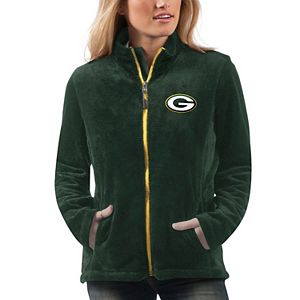 Women's G-III 4Her by Carl Banks Green Green Bay Packers Goal Line Full-Zip Jacket