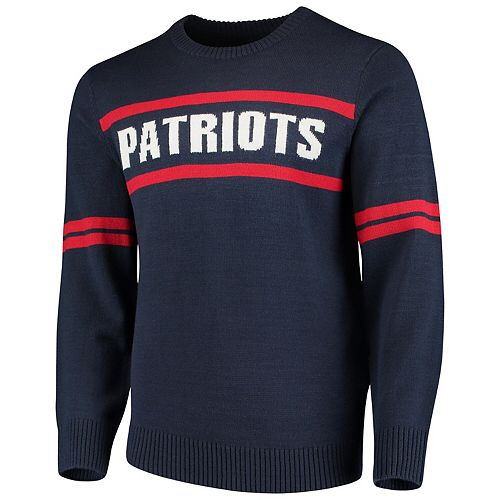 Men's G-III Sports by Carl Banks Navy New England Patriots Crewneck Sweater
