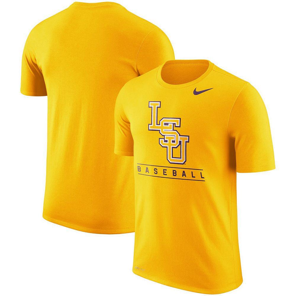 Men's Nike Gold LSU Tigers Baseball Legend Team Issue Performance T-Shirt