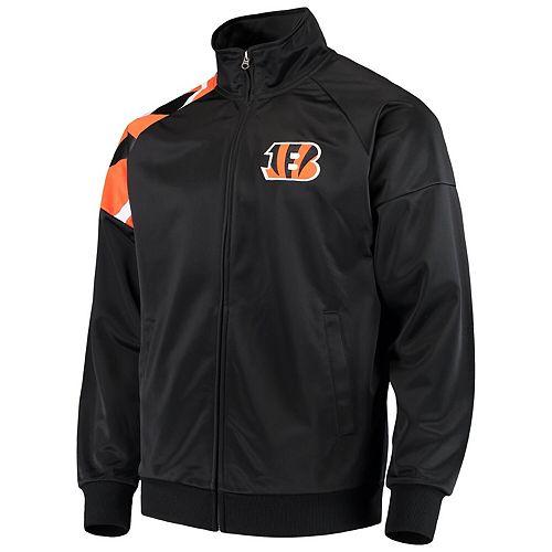 Men's G-III Sports by Carl Banks Black Cincinnati Bengals Interception Full-Zip Track Jacket