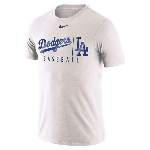 Men's Nike White Los Angeles Dodgers MLB Practice T-Shirt