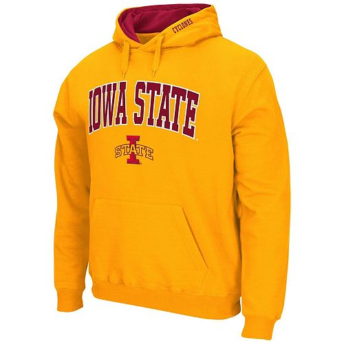 Men's Colosseum Gold Iowa State Cyclones Arch & Logo Pullover Hoodie