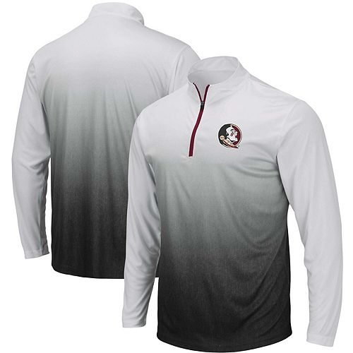 Men's Colosseum Gray Florida State Seminoles Magic Team Logo Quarter-Zip Jacket