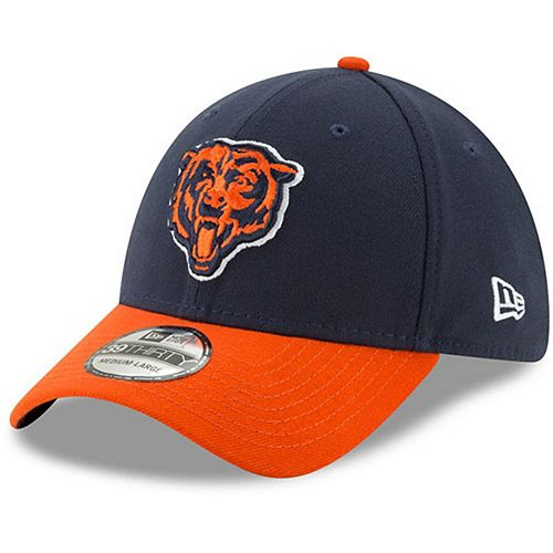 Men's New Era Navy/Orange Chicago Bears Team Classic Two-Tone 39THIRTY Flex Hat