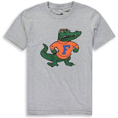 Youth Heathered Gray Florida Gators Vault Logo Short Sleeve T-Shirt