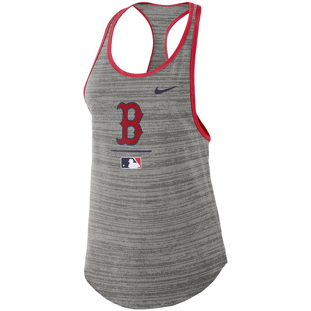 Women's Nike Gray Boston Red Sox Authentic Collection Velocity Team Issue Racerback Tank Top
