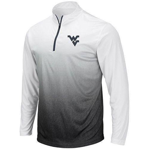 Men's Colosseum Gray West Virginia Mountaineers Magic Team Logo Quarter-Zip Jacket