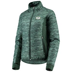 Women's G-III 4Her by Carl Banks Green Bay Packers Green Huddle Full-Zip Jacket