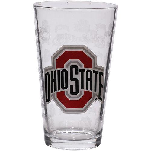 Ohio State Buckeyes 16oz. Sandblasted Mixing Glass