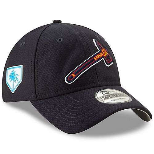 Men's New Era Navy Atlanta Braves 2019 Spring Training 9TWENTY Adjustable Hat