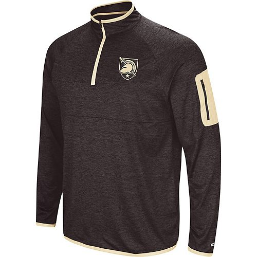 Men's Colosseum Black Army Black Knights Amnesia Quarter-Zip Pullover Jacket
