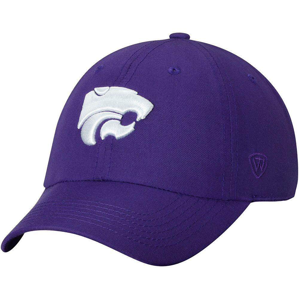 Men's Top of the World Purple Kansas State Wildcats Primary Logo Staple Adjustable Hat