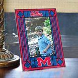 Mississippi Rebels Art-Glass Picture Frame