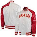 Men's Starter White Tampa Bay Buccaneers Start of Season Retro Satin Full-Button Varsity Jacket