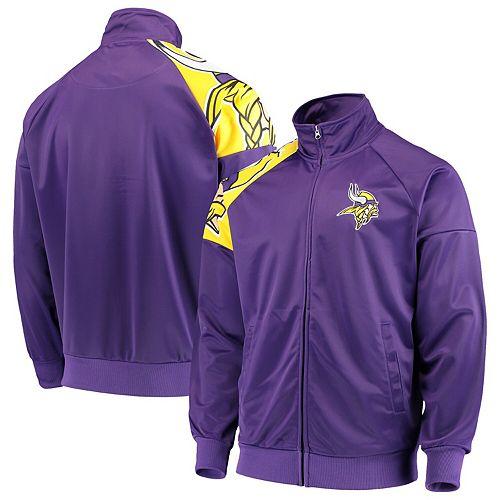 on sale 35110 231e1 Men's G-III Sports by Carl Banks Purple Minnesota Vikings Interception  Full-Zip Track Jacket
