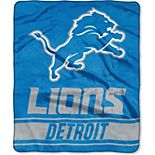 "The Northwest Company Detroit Lions 50"" x 60"" Stabilize Raschel Plush Throw Blanket"