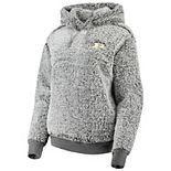 Women's Heathered Gray Purdue Boilermakers Sherpa Inside & Out Pullover Hoodie