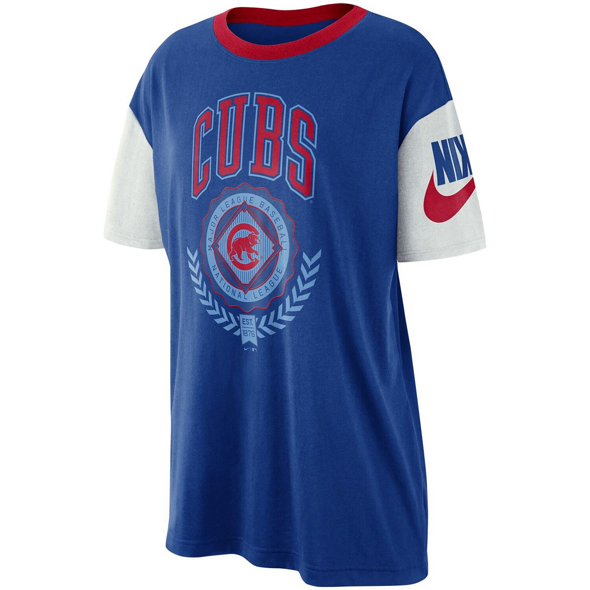 Women's Nike Royal Chicago Cubs Walk-Off Boycut T-Shirt qmnvp