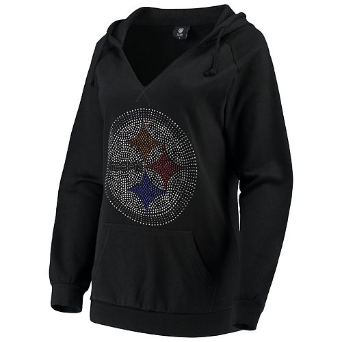huge selection of d3c64 eb3e4 Women's Cuce Black Pittsburgh Steelers Huddle Up Pullover Hoodie