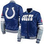 Women's Starter Royal Indianapolis Colts Victory Cheer Raglan Jacket